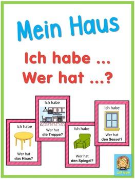 German house vocabulary  Ich habe ... Wer hat ...? game