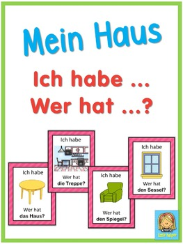 German house vocabulary  Ich habe ... Wer hat ...? game
