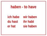 German Irregular Verbs Posters
