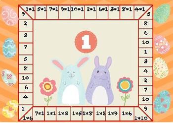 German, kleine 1mal1, Multiplikationsspiel, Ostern