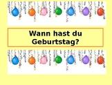 German lesson: Wann hast du Geburtstag?