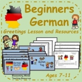 German lesson plan, PowerPoint and resources - Greetings