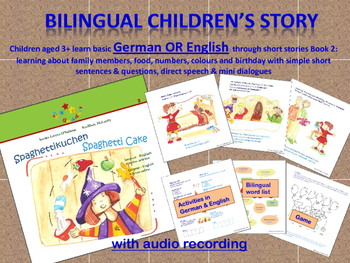 German or ESL Beginners BUNDLE - Stories, Activities, Printables and Audio