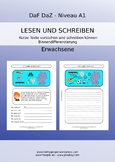 German reading comprehension and writing skills for adults