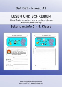 German reading comprehension and writing skills for youngsters, Level A1