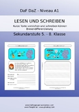 German reading comprehension and writing skills for youngs
