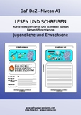 German reading comprehension & writing for A1 levels, youn