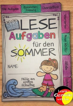 German reading motivation- Deutsch Lesemotivation für den Sommer