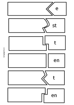 German regular verb puzzle, level A1