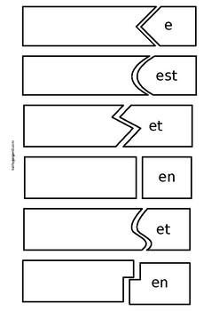 German regular verb puzzle, level A1