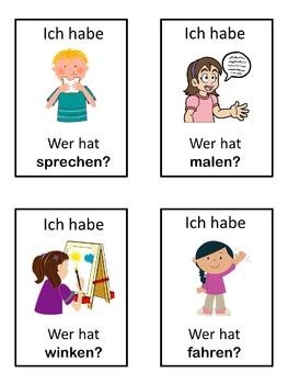 German verbs  Ich habe ... Wer hat ...? game