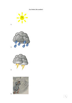 German sentences for the weather