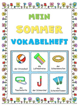 German summer vocabulary cards