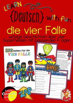 """German- the four cases- """"Superhelden für die vier Fälle"""""""