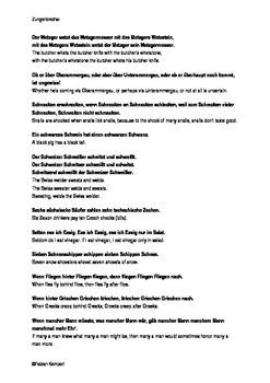 German tongue twisters with English translation