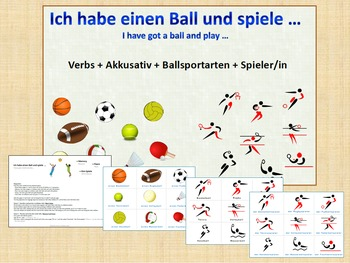 German - verbs and accusative - Topic Ball Sports