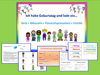 German - verbs + possessive pronouns with accusative - Topic Birthday