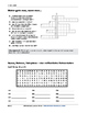 German vocabulary crossword puzzles - In Town