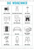 German vocabulary - das Wohnzimmer (living room)