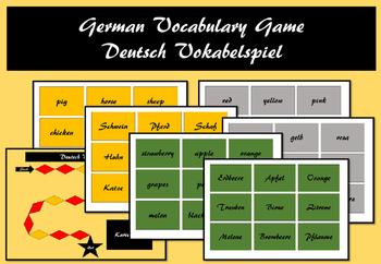 German vocabulary game
