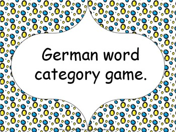 German word category game