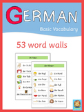 German Word Walls - Basic Vocabulary
