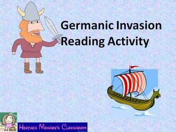 Germanic Invasion Reading Activity