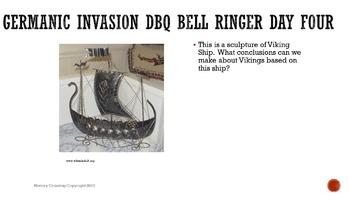 Germanic Invasions DBQ Bell Ringers