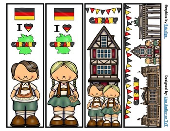 Germany Bookmarks -  4 Designs