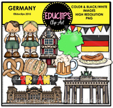 Germany Clip Art Bundle {Educlips Clipart}