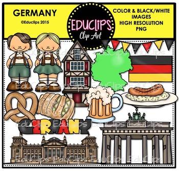 Germany Clip Art Bundle {Educlips Clipart}