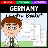 Germany Copywork, Activities, and Country Booklet