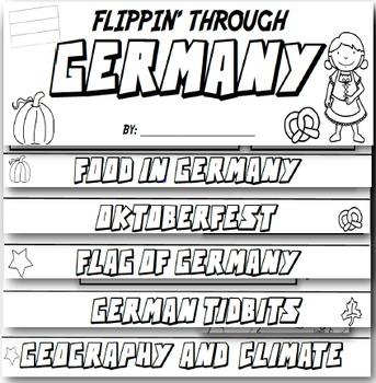Germany Flip Book: A Social Studies Interactive Activity for Grades 3-5