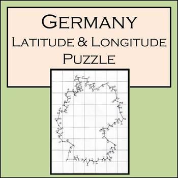 Germany - Latitude and Longitude Puzzle - 105 Coordinates to Plot