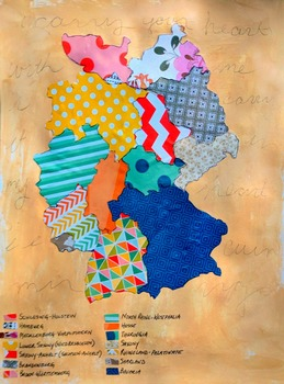 Germany map 85 x 11 with key countries continent map legend on map gumiabroncs Images