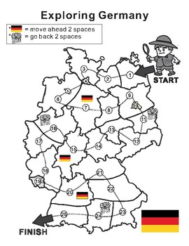 Germany Map Blank Game Board