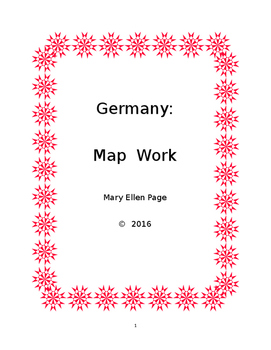 Germany  Map Work