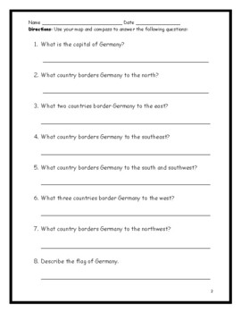 Germany - Printable handout with map and flag