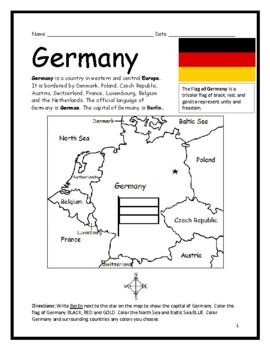 GERMANY - Printable handout with map and flag on germany map german states, germany map blackline master, germany map 1700, germany on world map, germany road map, germany map flowers, germany map funny, germany flag, germany tour map, germany coloring pages printable, germany map interactive, germany map with cities, germany map coloring page, germany map food, germany map cities surrounding countries, germany map blank, germany map 1939, germany map projects, germany map with c, germany map color,