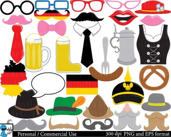Germany Props -  Clip Art Digital Files Personal Commercial Use cod209