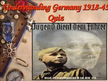 Germany Quiz 1918 to 1945 Full Unit