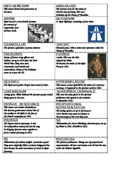 Germany Revision Cards 1918-1945