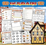 Germany Themed Activity Packet / Worksheet Set + Flashcards