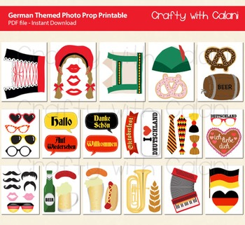 Germany Themed Photo Booth Prop Printable