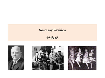 Germany from Weimar to the Nazis