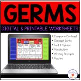 Germs Activity Worksheets   Digital and Printable- Low Prep!