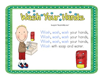 Germs, Hand Washing, Having a Cold STUDENT FRIENDLY Posters, Book, Songs