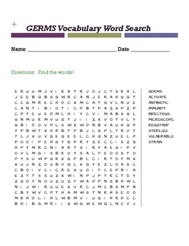 Germs Word Search