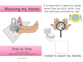 Germs and Washing Hands Interactive/Adapted for Special Ed