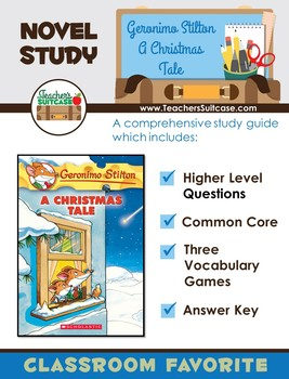 Geronimo Stilton A Christmas Tale {Novel Study, Vocabulary & Common Core}